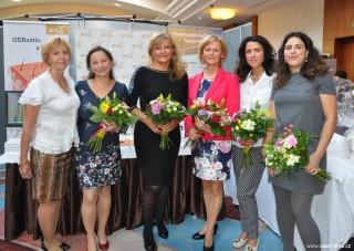 Vítězky Hviezda GERnétic Slovensko 2017 - zleva Alena Kimlová, Slávka Gajarská, Anna Bučková, Mária Mazúchová, Hana Mercel, Bianka Chramcová.